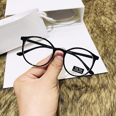 MẮT KÍNH GỌNG CẬN TATA NGỐ FORM TRÒN DỄ THƯƠNG HOT TREND 0 độ - mắt kính thời trang