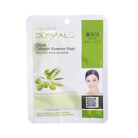 Mặt nạ Dermal dưỡng da tinh chất Olive Collagen 23g - cấp ẩm cho da khô, tăng đàn hồi cho da