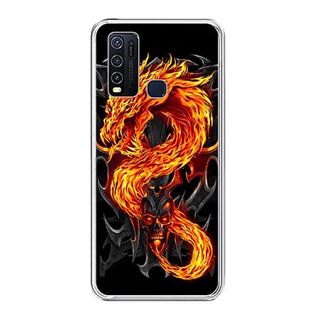Ốp lưng dẻo cho điện thoại Vivo Y30 - 0218 FIREDRAGON - Hàng Chính Hãng