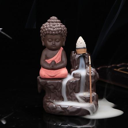 Thác Khói Trầm Hương trang trí Phật Toạ