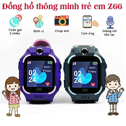 Đồng hồ thông minh trẻ em gắn sim định vị LPS Z66, màn hình cảm ứng , nghe gọi 2 chiều  , Tích Hợp Camera Chụp hình
