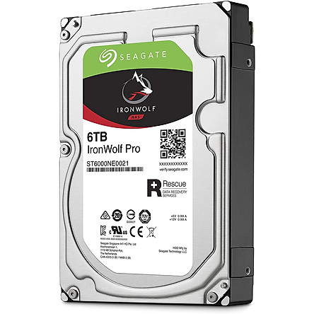Ổ Cứng HDD NAS Storage Seagate IronWolf Pro 6TB/256MB/3.5 7200RPM - ST6000NE0021 - Hàng Chính Hãng