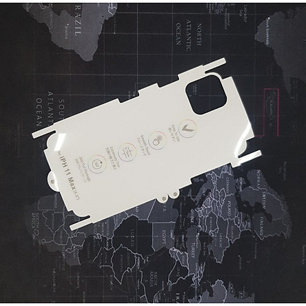 Tấm dán lưng viền trong suốt PPF(Paint Protection Film) dành cho iPhone 11 Pro Max