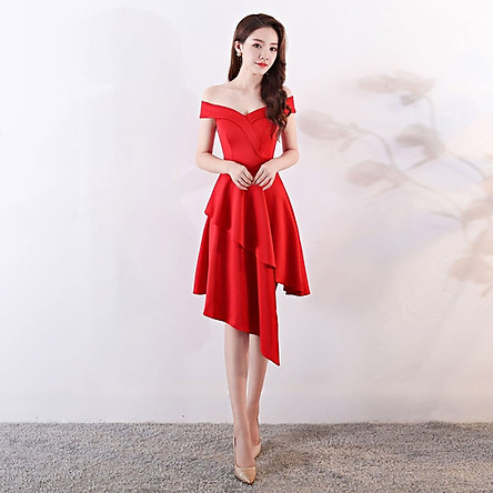 Đầm Dạ Hội Trễ Vai Cho Nữ Xi Diao
