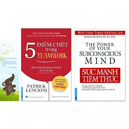 Combo 2 quyển: Sức Mạnh Tiềm Thức, 5 Điểm Chết Trong Teamwork (Tặng kèm bookmark danh ngôn hình voi)