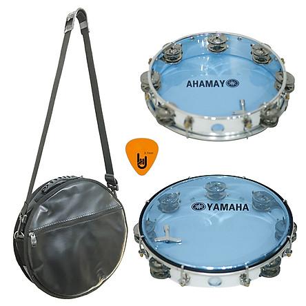Combo Trống Lắc Tay Và Bao Đựng Lục Lạc Gõ Bo Tambourine Yamaha MT6-102B (Xanh) - Kèm móng gẩy