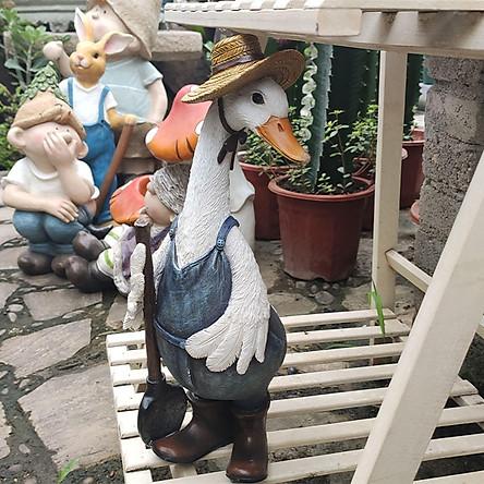 Duck Statues For Garden Figures Resin, Outdoor Figures For The Garden
