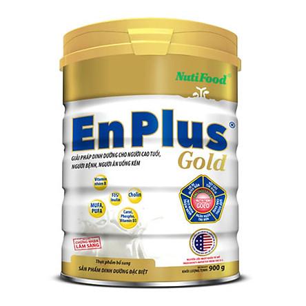 Sữa Bột NutiFood Enplus Gold Lon 900g Dinh Dưỡng Cho Người Già, Người Bệnh Và Người Ăn Uống Kém - Hàng Chính Hãng
