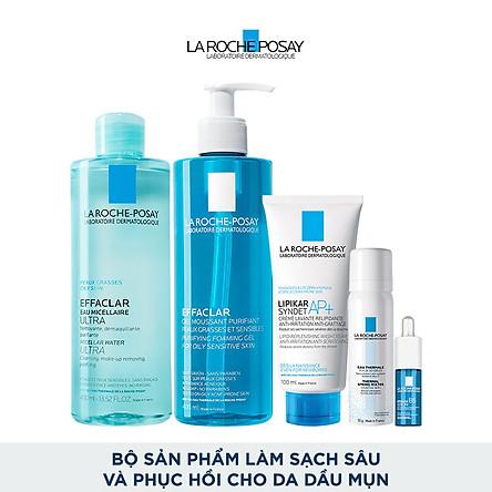 Bộ sản phẩm làm sạch sâu và phục hồi cho da dầu mụn La Roche-Posay Effaclar