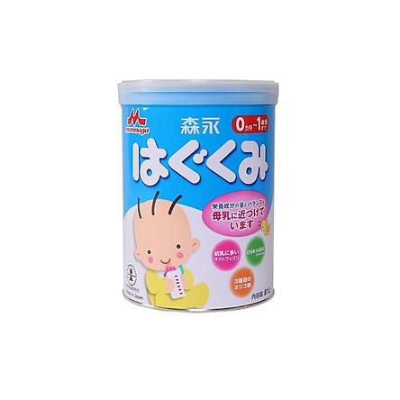 Sữa bột công thức Morinaga Hagukumi Milk Step 1 cho bé từ 0 đến 1 tuổi (810g) - Nhập khẩu Nhật Bản