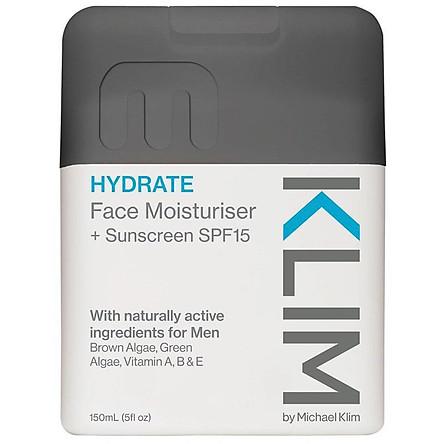 Kem chống nắng dưỡng da Klim Face Moisturiser + Sunscreen SPF 15 150ml