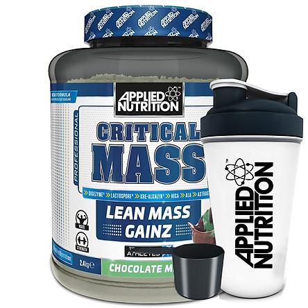 Critical Mass vị Socola mâm xôi Applied Nutrition 2,4kg và bình lắc