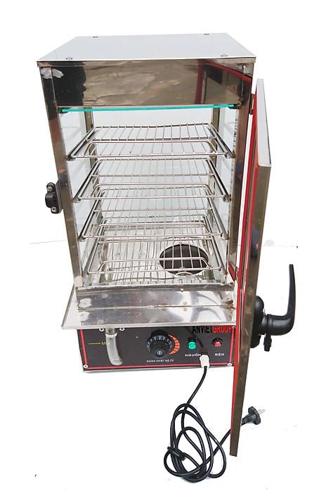 Tủ hấp nóng trưng bày bánh bao ( Hàng chính hãng)