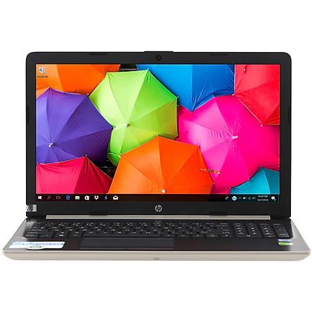 Laptop HP 15-da1033TX 5NK26PA (Core i7-8565U/ 4GB DDR4 2400MHz/ 1TB HDD 5400rpm, x1 slot SSD M.2/ MX130 2GB/ 15.6 FHD/ Win10) - Hàng Chính Hãng