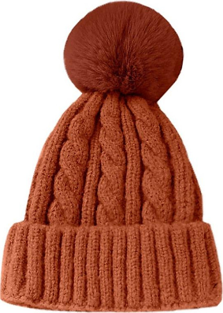 Winter Warm Fashion Stylish Kids Mom Cotton Family Matching Outfit Knitting Beanies Hats Knitted Wool Cap