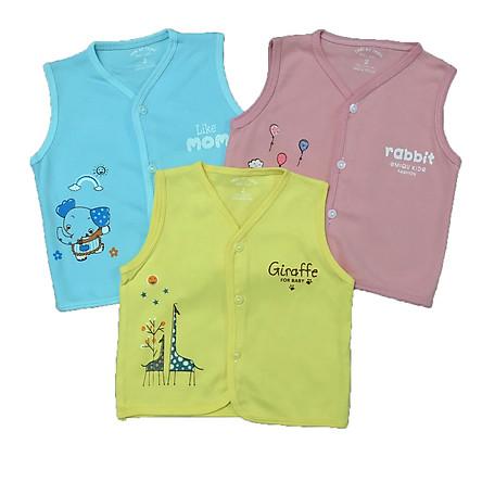 Combo 3 áo khoác gile cotton Thái Hà Thịnh cho bé trai, bé gái, 100% cotton mềm, mịn, ấm, size từ 5-11kg, hàng chính hãng
