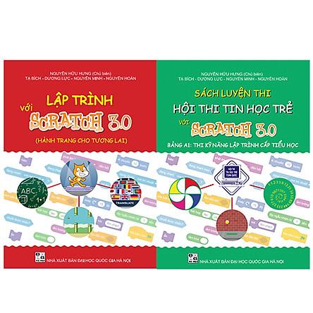 Combo sách Luyện thi hội thi tin học trẻ với Scratch 3.0 cấp Tiểu học