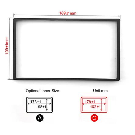 Car DVD/CD Radio Stereo Fascia Panel Frame Adaptor Fitting Kit for Honda FIT(Jazz)