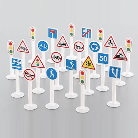 Bộ đồ chơi 24 biển báo giao thông - Polesie Toys