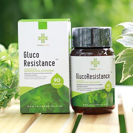 TPCN - Thảo dược hỗ trợ điều trị tiểu đường, ổn định đường huyết, kiểm soát đường huyết (100% Chiết xuất thảo dược) - Teresa Herbs GlucoResistance 90 Caps Nutraceutical Supplement (Made in USA, 90 viên)