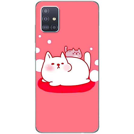 Ốp lưng dành cho Samsung A51 mẫu Gấu mập nền hồng