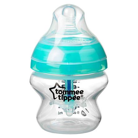 Bình sữa chống đầy hơi Tommee Tippee Advanced Anti-Colic 150ml (bình đơn) - Trắng/Xanh Ngọc