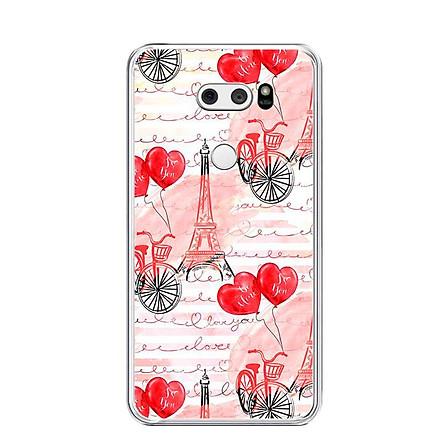 Ốp lưng dẻo cho điện thoại LG V30 - 0039 PARIS05 - Hàng Chính Hãng