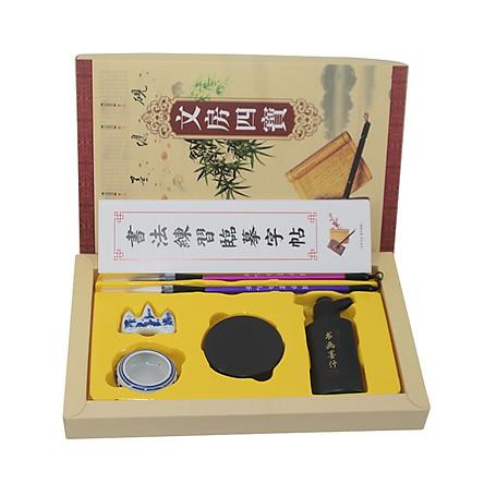 Bộ luyện viết thư pháp văn phòng tứ bảo tiết kiệm + Link quà tặng các tài liệu tự ôn luyện tiếng Trung