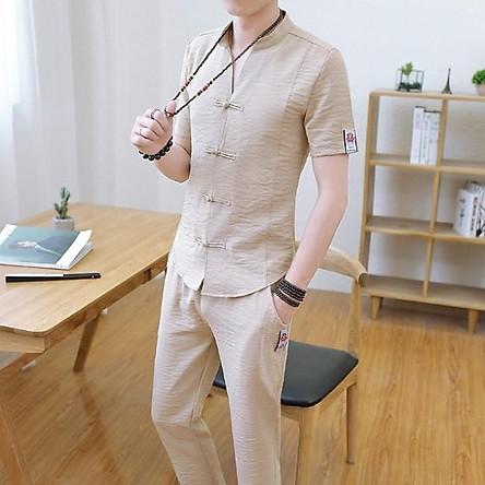 BCT ( Xả hàng) Bộ đũi nam phong cách Hàn quốc!