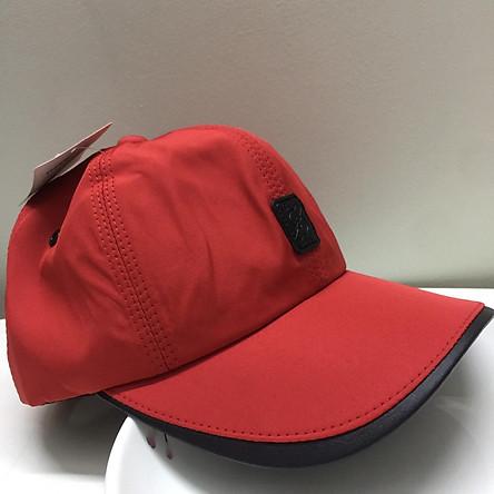 Nón nam nữ nón kết mũ lưỡi trai thể thao vải dù màu đỏ tươi