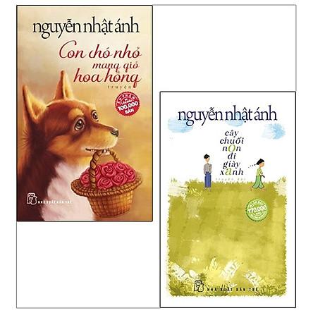 Combo (Cây Chuối Non Đi Giày Xanh + Con Chó Nhỏ Mang Giỏ Hoa Hồng)