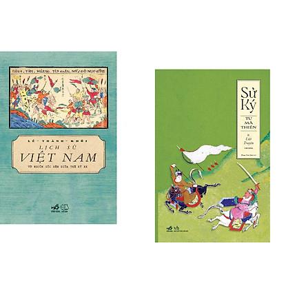 Combo 2 cuốn sách: Lịch sử Việt Nam từ nguồn gốc đến giữa thế kỷ XX  + Sử ký - II Liệt truyện thượng
