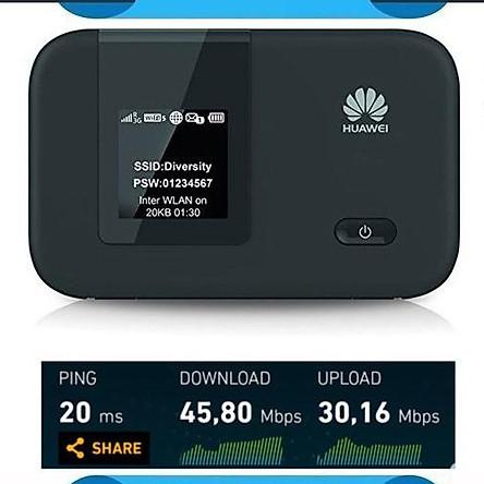 Phát wifi từ sim 4G Huawei E5372 tốc độ cao - hỗ trợ 2 cổng anten ts9 (HÀNG NHẬP KHẨU)