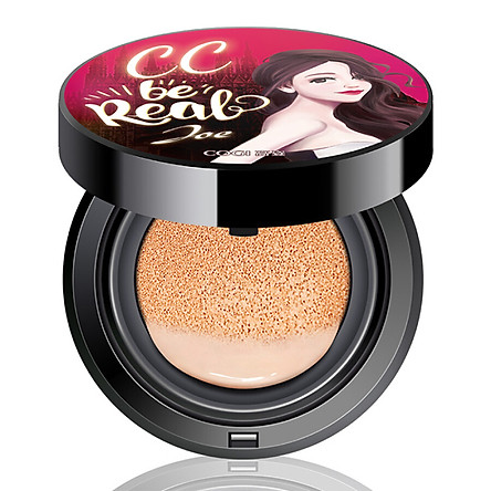 High-profile COGI star light uniform air cushion CC frost (15g +15 g replacement) (replenishment moisturizing concealer light through the protection of Chen Qiao En custom skin care)