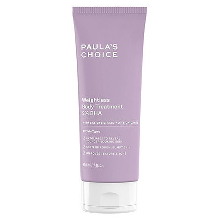 Kem Dưỡng Thể 2% BHA Paula's Choice Resist Weightless Body Treatment With 2% BHA (210ml)
