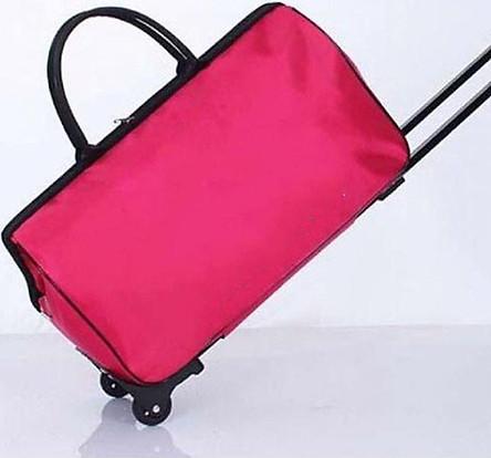 Túi kéo du lịch màu hồng hiện đại