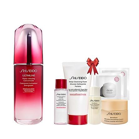 Bộ sản phẩm Tinh chất dưỡng da Shiseido Ultimune Power Infusing Concentrate N 75ml