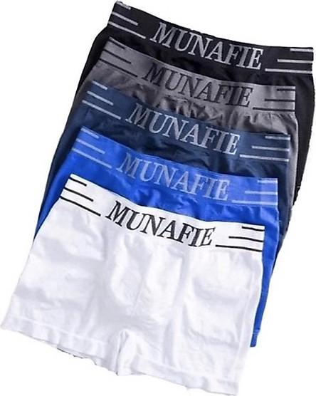 [Co giãn-Mềm mại-Thông thoáng] Combo 05 quần lót đùi nam boxer Nhật MUNAFIE kháng khuẩn có túi ZIP sang trọng
