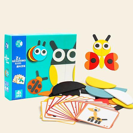 Bộ Tranh Ghép Hình Montessori Fun Board