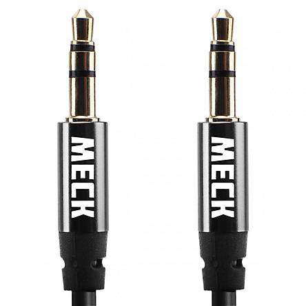 Dây Cáp Âm Thanh Aux 3.5mm MECK (1m): Stereo Audio Auxiliary Headphone Jack