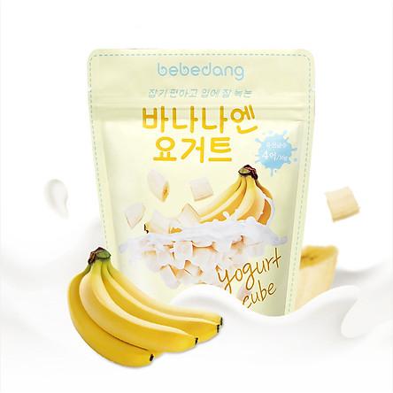 Sữa chua hoa quả sấy lạnh Bebedang nhập khẩu Hàn Quốc - Vị chuối (16g)