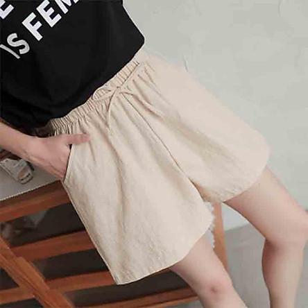 [QN07] Quần short, quần đùi nữ vải đũi siêu mát