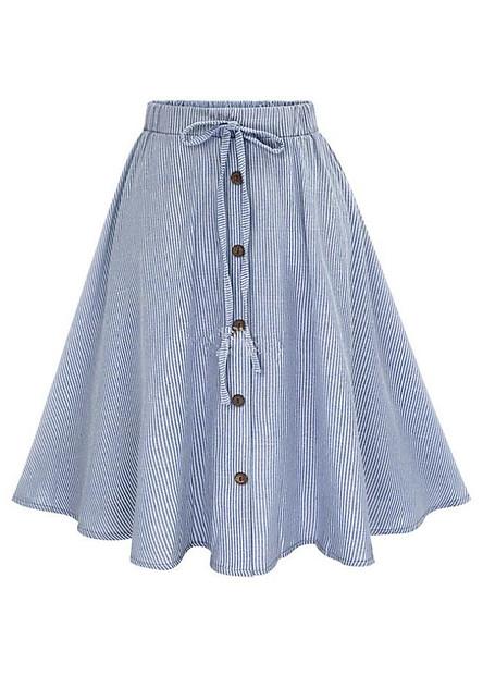 Chân váy xòe vải cotton dạo phố đi làm VAY23