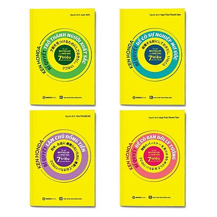 Combo 4 cuốn Bí quyết Ken Honda: Bí Quyết Trở Thành Người Xuất Sắc + Bí Kíp Để Có Sự Nghiệp Mơ Ước + Bí Kíp Làm Chủ Đồng Tiền + Bí Quyết Để Có Bạn Đời Lý Tưởng