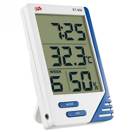 Đồng hồ đo nhiệt độ và độ ẩm 3 chức năng KT - 908