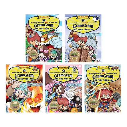 Combo Gram Gram - Đội Thám Hiểm Ngữ Pháp Tiếng Anh (Trọn Bộ 5 Cuốn) (Tặng kèm Bookmark PL)