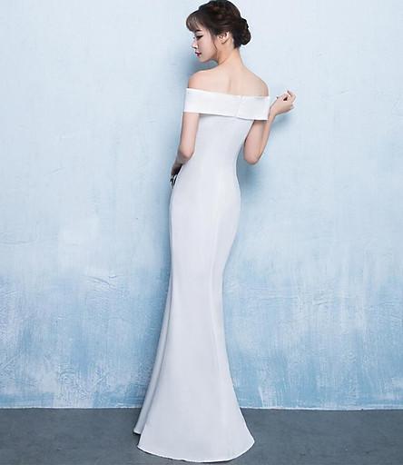 Đầm Dài Dạ Hội Trễ Vai Đuôi Cá Cho Nữ Xi Diao