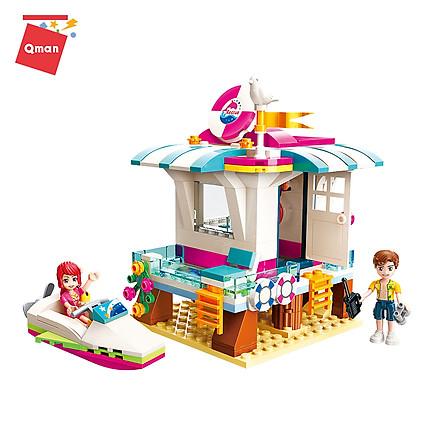 Đồ chơi xếp hình, lắp ráp lego Qman 2019: Trạm cứu hộ trên biển (229 mảnh ghép)