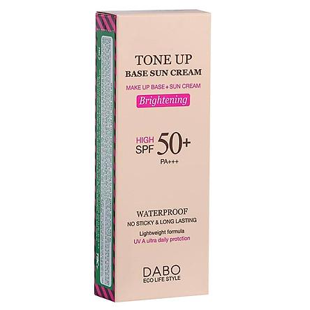 Kem Chống Nắng Kiềm Dầu Nâng Tone Dưỡng Da Dabo Tone Up Base Sun Cream SPF 50 PA +++(70ml) - Hàng Chính Hãng