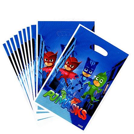 10 túi quà Party gift bag 17 x 25 cm chủ đề PJ Mask